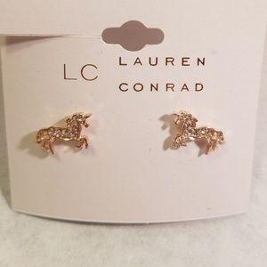 LC Lauren Conrad Unicorn Stud Earrings